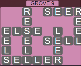 Wordscapes Fall Grove 9 - Level 3033 Answers