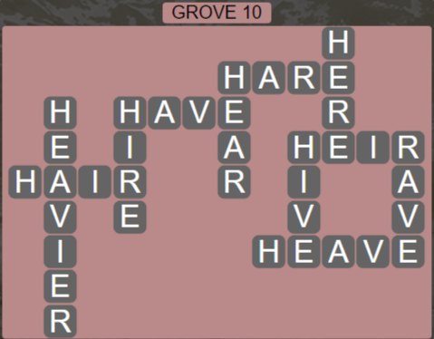 Wordscapes Fall Grove 10 - Level 3034 Answers