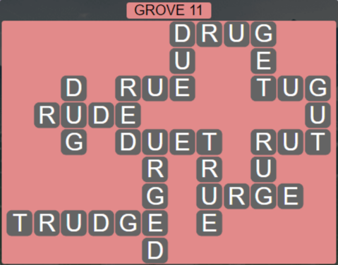 Wordscapes Fall Grove 11 - Level 3035 Answers