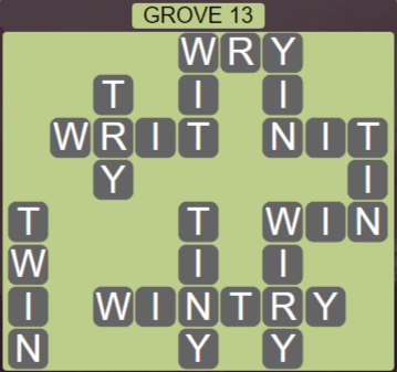 Wordscapes Fall Grove 13 - Level 3037 Answers