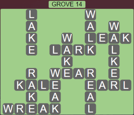 Wordscapes Fall Grove 14 - Level 3038 Answers