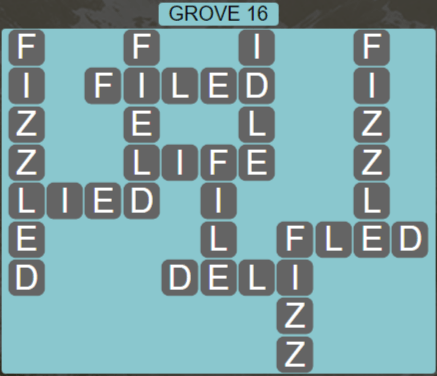 Wordscapes Fall Grove 16 - Level 3040 Answers