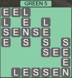 Wordscapes Rain Forest Green 5 - Level 3045 Answers