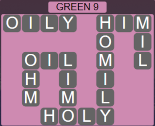 Wordscapes Rain Forest Green 9 - Level 3049 Answers