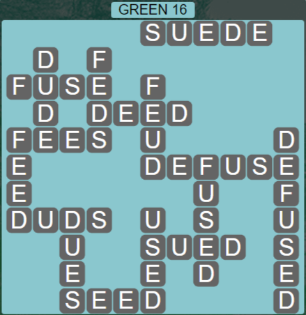 Wordscapes Rain Forest Green 16 - Level 3056 Answers