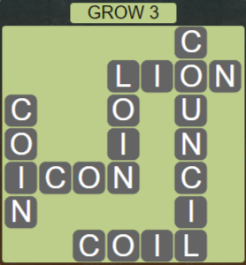 Wordscapes Rain Forest Grow 3 - Level 3059 Answers