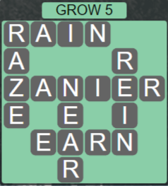 Wordscapes Rain Forest Grow 5 - Level 3061 Answers