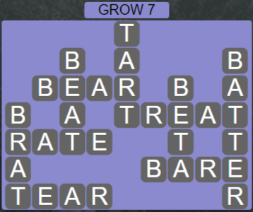 Wordscapes Rain Forest Grow 7 - Level 3063 Answers
