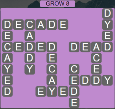 Wordscapes Rain Forest Grow 8 - Level 3064 Answers