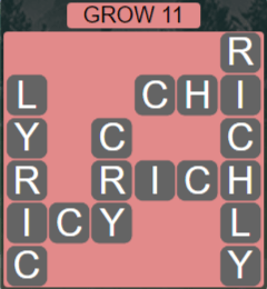 Wordscapes Rain Forest Grow 11 - Level 3067 Answers