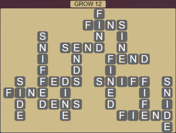 Wordscapes Rain Forest Grow 12 - Level 3068 Answers