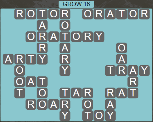 Wordscapes Rain Forest Grow 16 - Level 3072 Answers