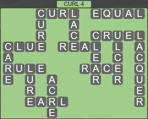 Wordscapes Rain Forest Curl 4 - Level 3076 Answers