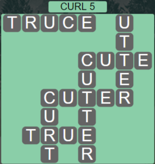 Wordscapes Rain Forest Curl 5 - Level 3077 Answers