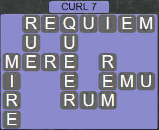 Wordscapes Rain Forest Curl 7 - Level 3079 Answers