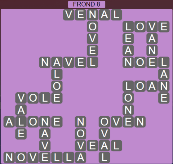Wordscapes Rain Forest Frond 8 - Level 3096 Answers