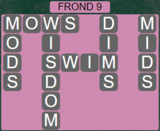 Wordscapes Rain Forest Frond 9 - Level 3097 Answers