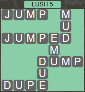 Wordscapes Rain Forest Lush 5 - Level 3109 Answers