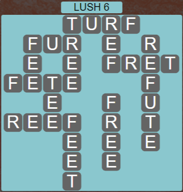 Wordscapes Rain Forest Lush 6 - Level 3110 Answers