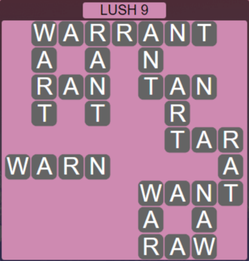 Wordscapes Rain Forest Lush 9 - Level 3113 Answers