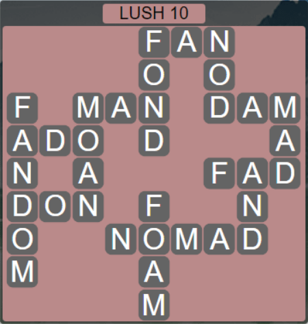 Wordscapes Rain Forest Lush 10 - Level 3114 Answers