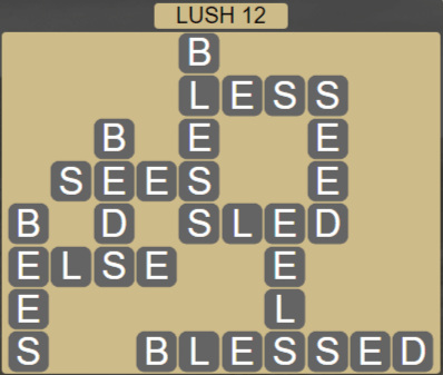 Wordscapes Rain Forest Lush 12 - Level 3116 Answers