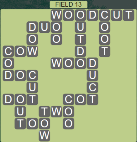 Wordscapes Rows Field 13 - Level 3133 Answers