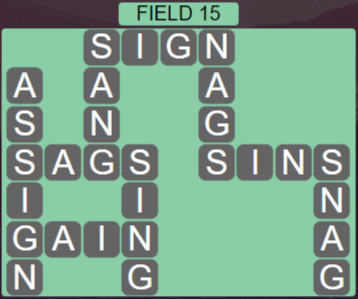 Wordscapes Rows Field 15 - Level 3135 Answers