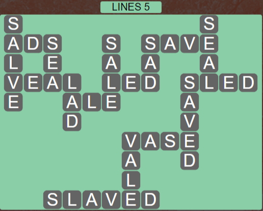 Wordscapes Rows Lines 5 - Level 3141 Answers