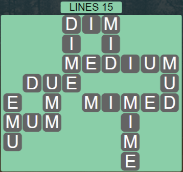 Wordscapes Rows Lines 15 - Level 3151 Answers