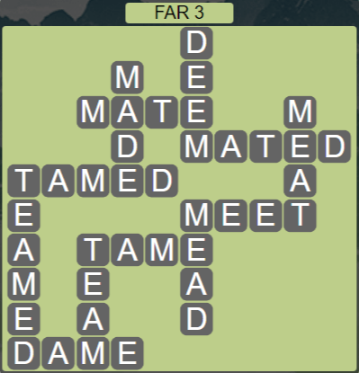 Wordscapes Rows Far 3 - Level 3155 Answers