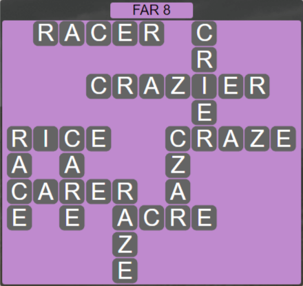 Wordscapes Rows Far 8 - Level 3160 Answers