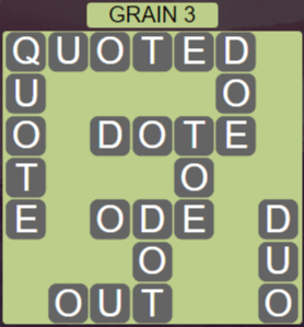 Wordscapes Rows Grain 3 - Level 3171 Answers