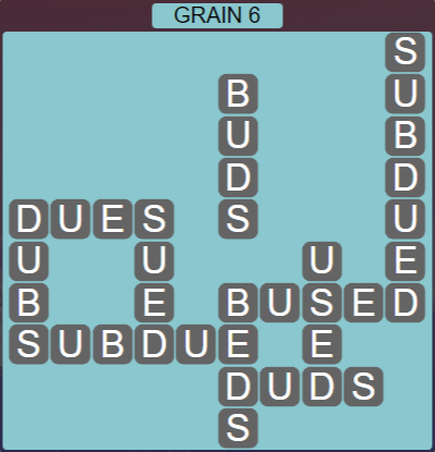 Wordscapes Rows Grain 6 - Level 3174 Answers