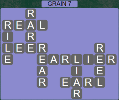 Wordscapes Rows Grain 7 - Level 3175 Answers