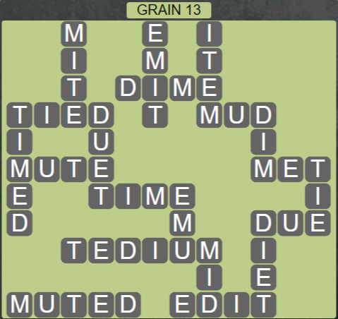 Wordscapes Rows Grain 13 - Level 3181 Answers