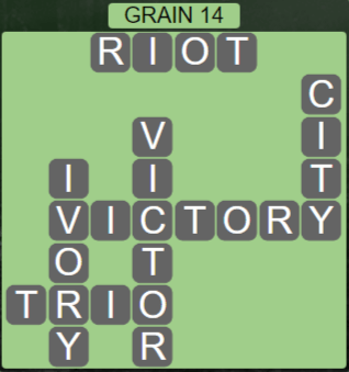 Wordscapes Rows Grain 14 - Level 3182 Answers