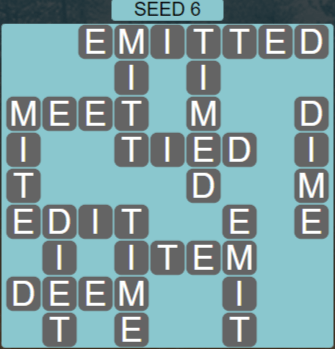 Wordscapes Rows Seed 6 - Level 3190 Answers