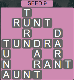 Wordscapes Rows Seed 9 - Level 3193 Answers