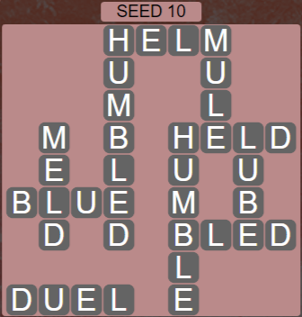 Wordscapes Rows Seed 10 - Level 3194 Answers