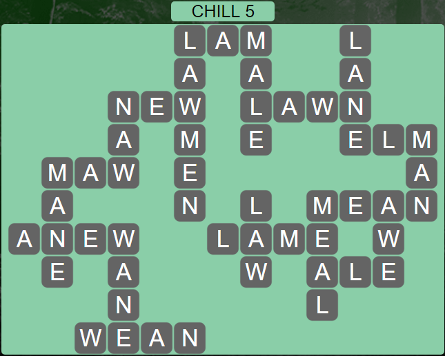 Wordscapes Basin Chill 5 - Level 3205 Answers