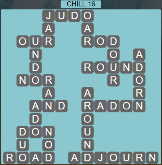 Wordscapes Basin Chill 16 - Level 3216 Answers
