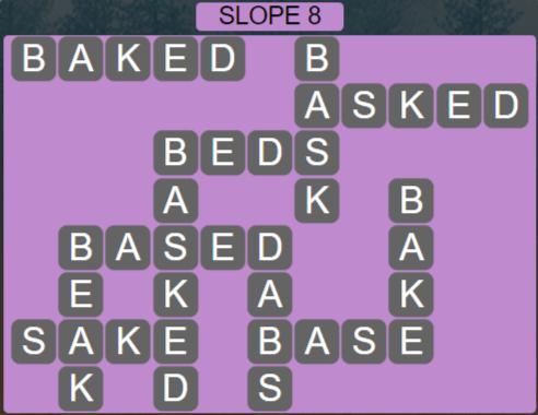 Wordscapes Basin Slope 8 - Level 3224 Answers