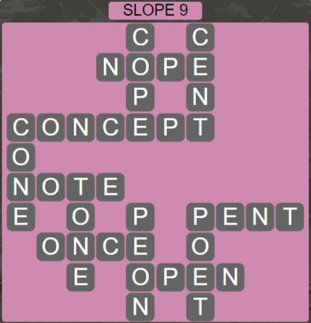 Wordscapes Basin Slope 9 - Level 3225 Answers