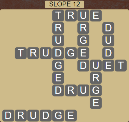 Wordscapes Basin Slope 12 - Level 3228 Answers