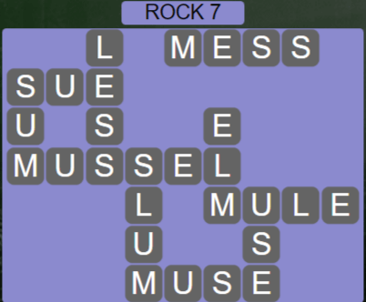 Wordscapes Basin Rock 7 - Level 3239 Answers