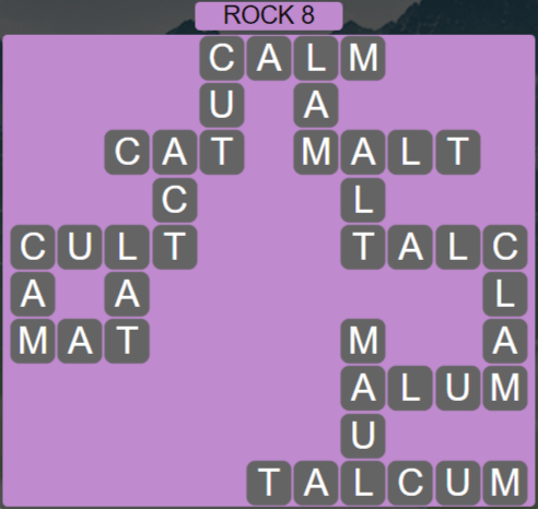 Wordscapes Basin Rock 8 - Level 3240 Answers