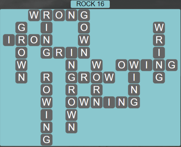 Wordscapes Basin Rock 16 - Level 3248 Answers