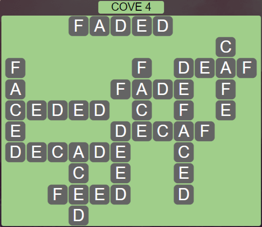 Wordscapes Basin Cove 4 - Level 3252 Answers