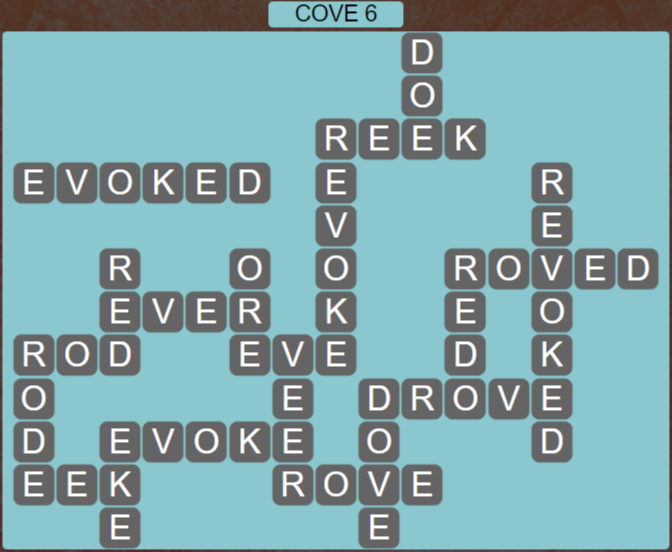 Wordscapes Basin Cove 6 - Level 3254 Answers